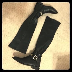 Zara black over the knee boots